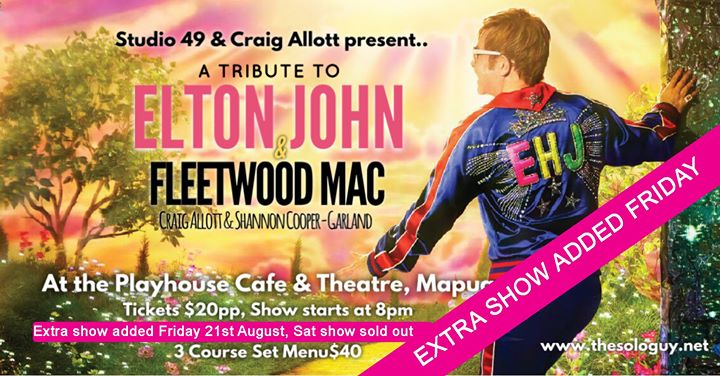 Fleetwood Mac and Elton John Tribute SOLD OUT new show added 18th Dec