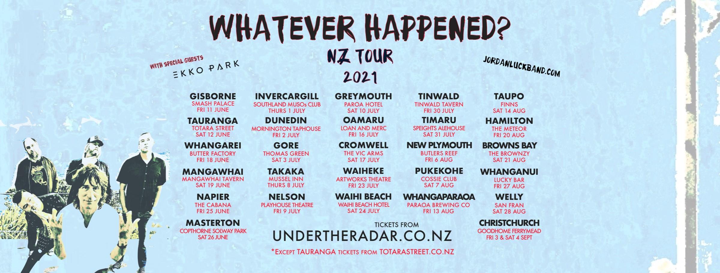 Nelson - Jordan Luck Band NZ Winter Tour 21